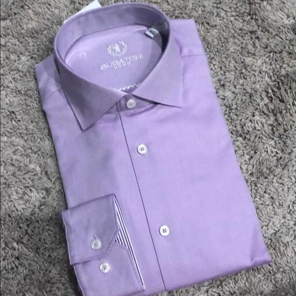 Bugatchi Other - Bugatchi shaped fit NWT dress shirt purple 16.5